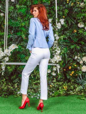 Pantalone 285 R Bele Pozadi